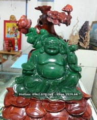 Phật Di Lặc Đá Thạch Anh Xanh
