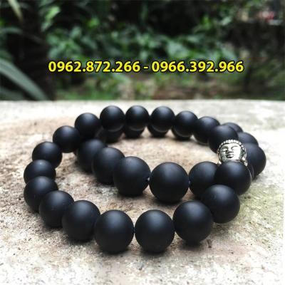 Vòng tay đá thiền obsidian